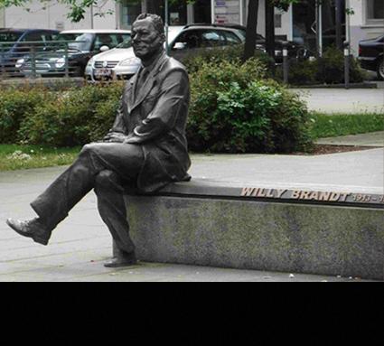 Willy Brandt; Standort: Nürnberg, Bildhauer: Josef Tabachnyk