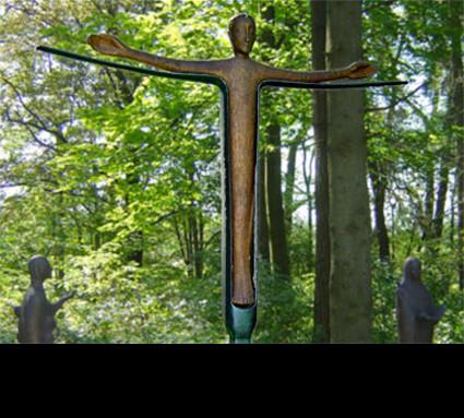 """""""Christus"""" 1998; Bildhauer: Dilling Irene; Standort: Schwanberg; Guß:Franz Jahn"""