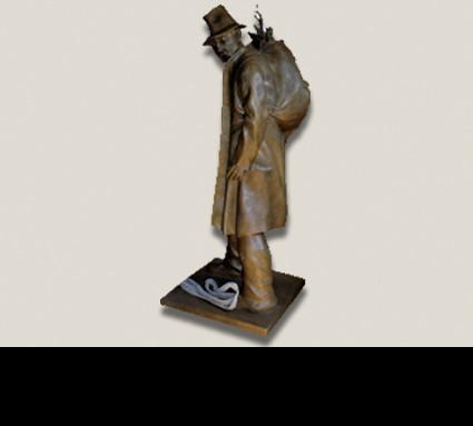 """""""Wilderer"""", Bildhauer: Holzheimer Herbert; Guß: Franz Jahn"""
