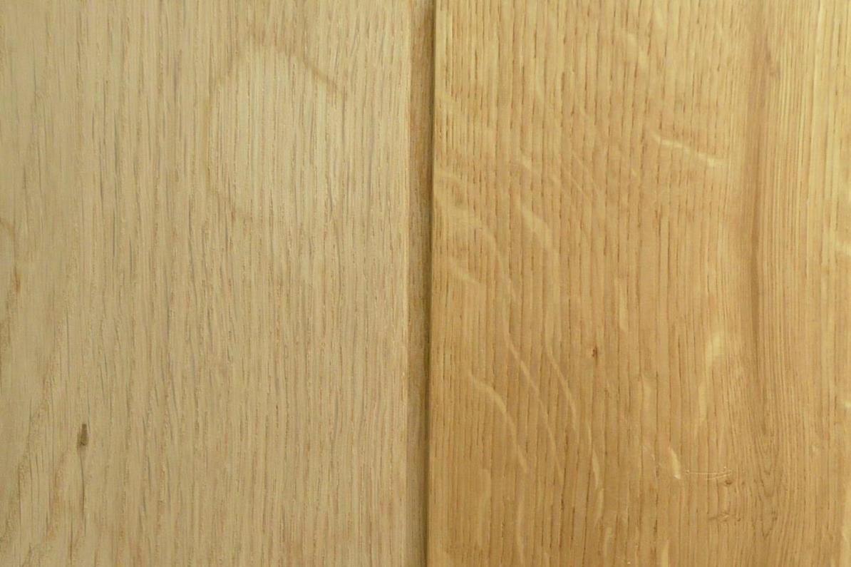 Nachher: Auf dem Rohholz ist noch ein leichter Schatten erkennbar, der hochwertige Stab blieb in unserem Versuch unverändert
