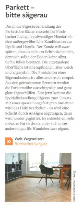 """Presseveröffenlichung in der Zeitschrift """"genau"""" im Juli/August 2018 - S. Fischbacher Living"""