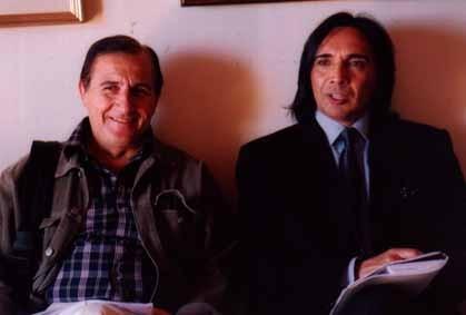 Antonio Maria Magro con lo scrittore Stefano Milioto