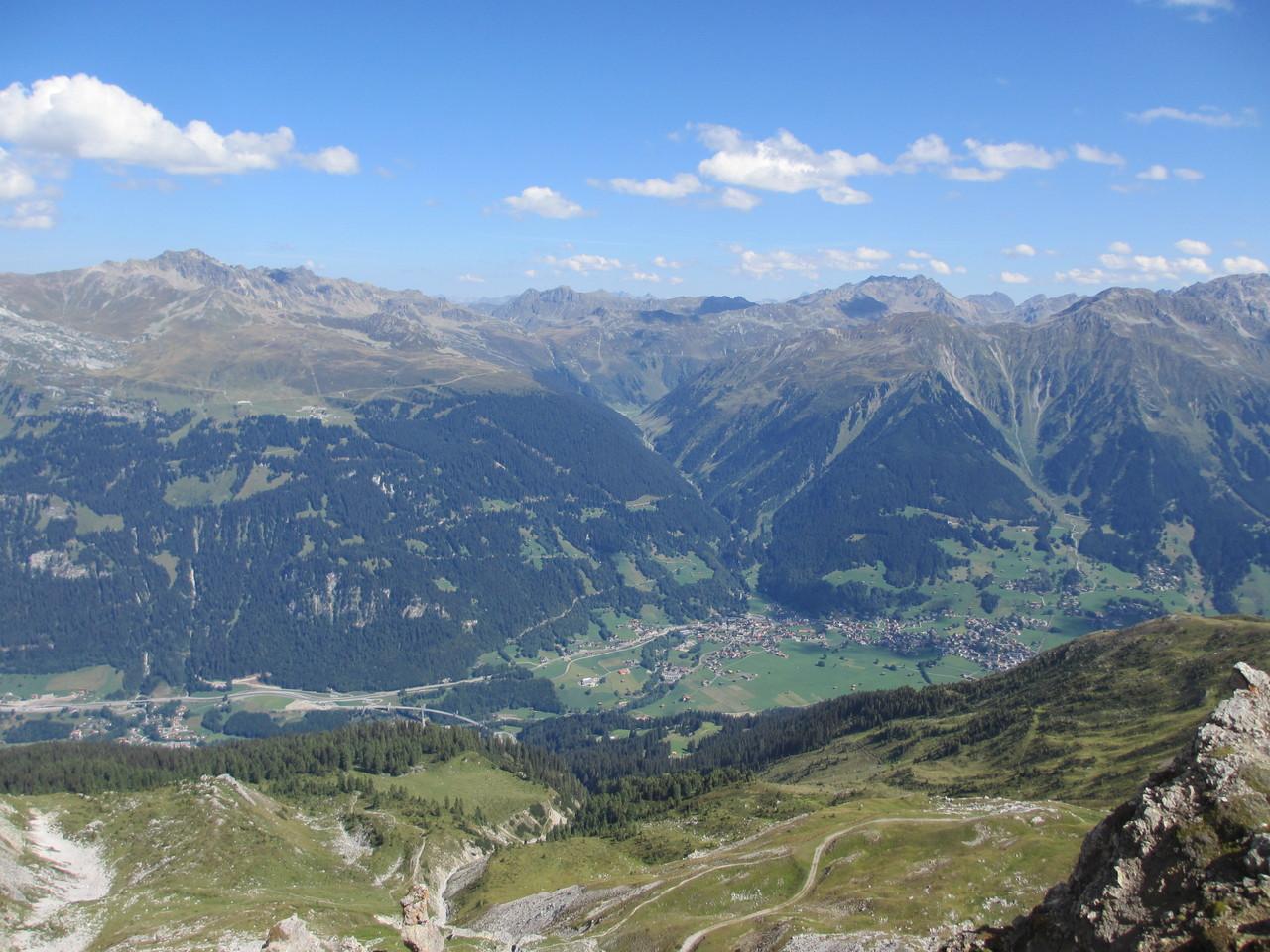Blick von Gotschna auf Klosters
