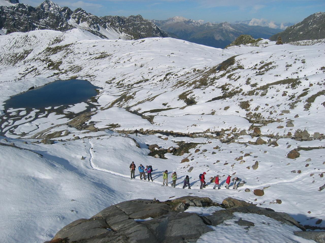 Wanderung zum Gletscherlehrpfad Silvretta