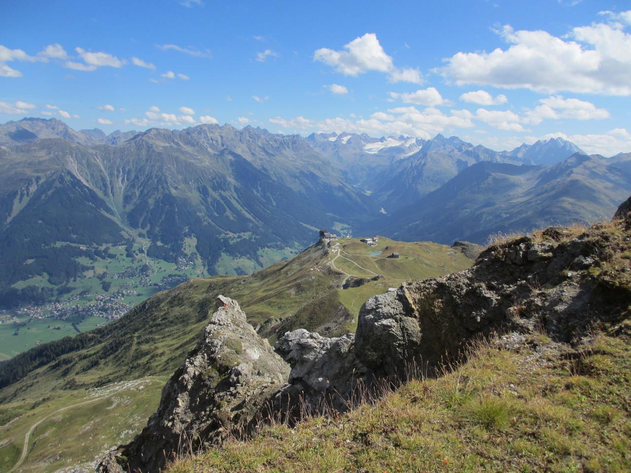 Blick vom Grünhorn Richtung Silvrettagletscher