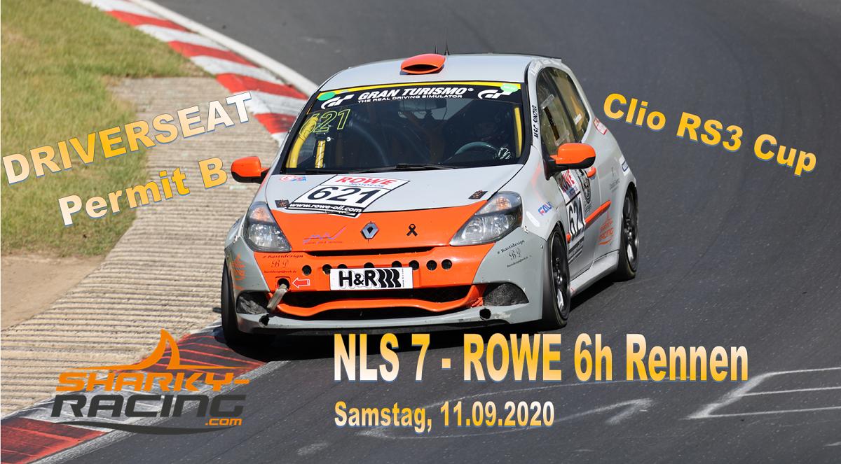 Fahrerplatz NLS 7 - Permit B -ROWE 6h Rennen