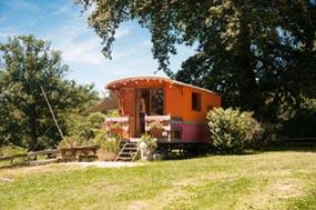sleeping in a gypsy-caravan in france