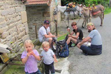 rando âne avec enfants