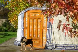 vacances d'automne sous la yourte