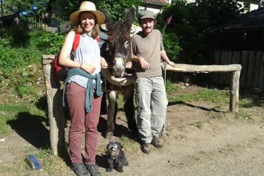 Randonnée avec un âne Massif-Central