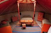 sleeping in a yurt in france