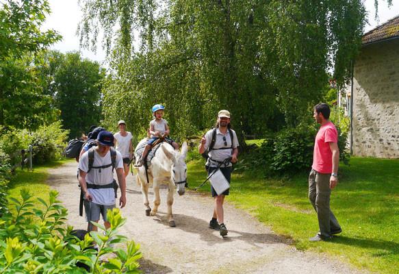 family donkey-trekking in france