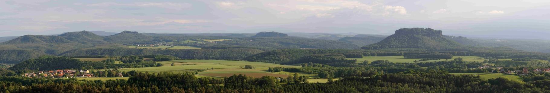 Panorama im Elbsandsteingebirge, Sachsen