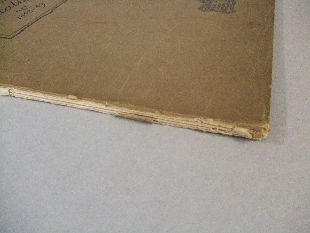 Particolare di questo libro prima del restauro