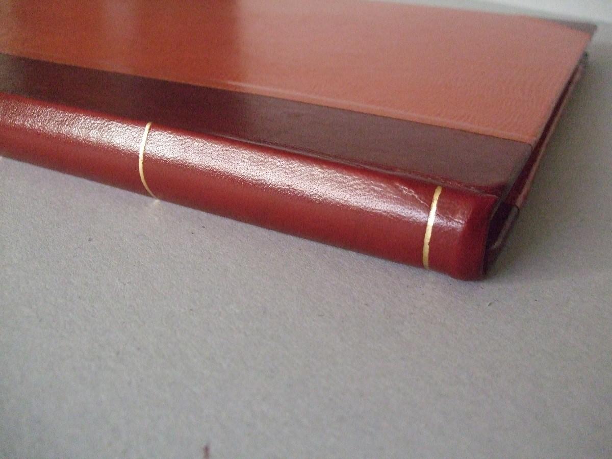 Particolare del dorso del libro dopo il restauro