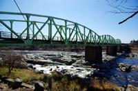 佐貫観音前の鬼怒川に架かる旧「観音橋」