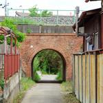 東武佐野線下の赤レンガのトンネル