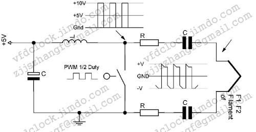 单驱动灯丝电压生成电路原理图