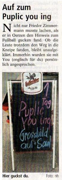 Landeszeitung, am 15.06.2010