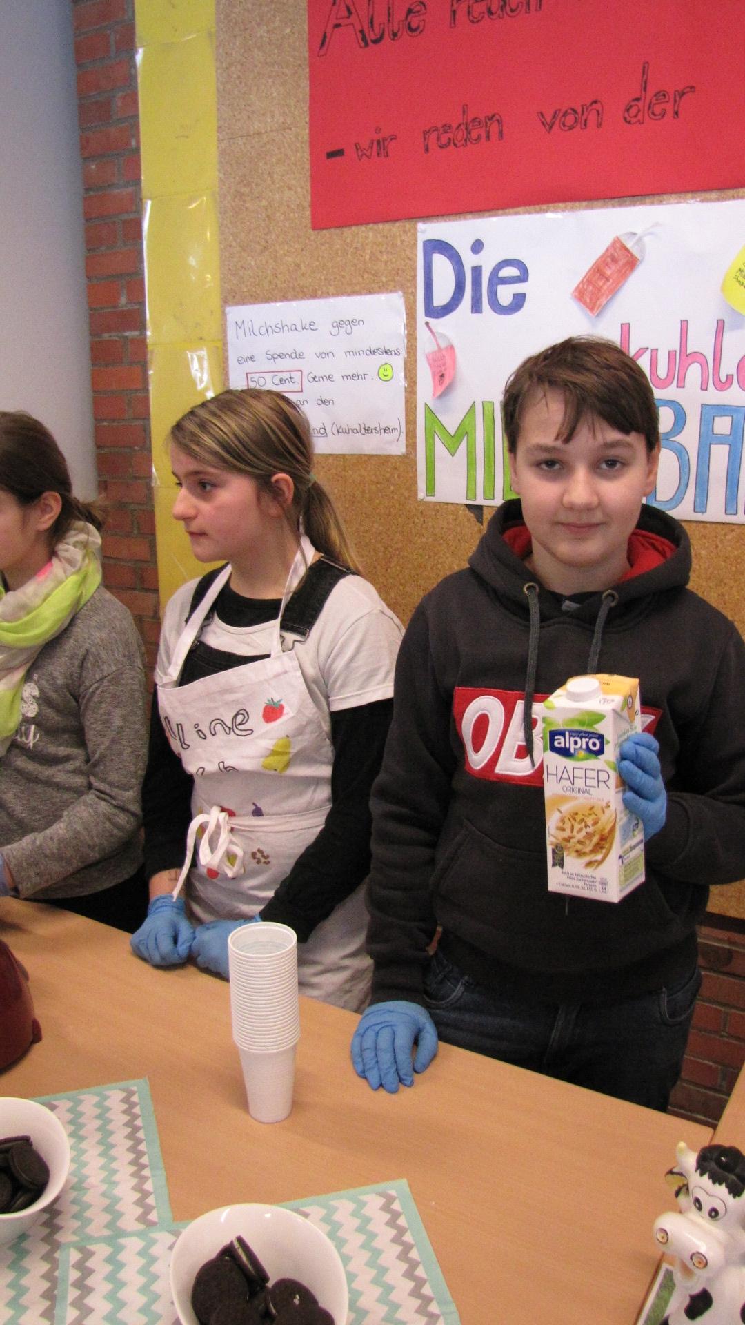 Wir machen Milchshakes ohne Milch