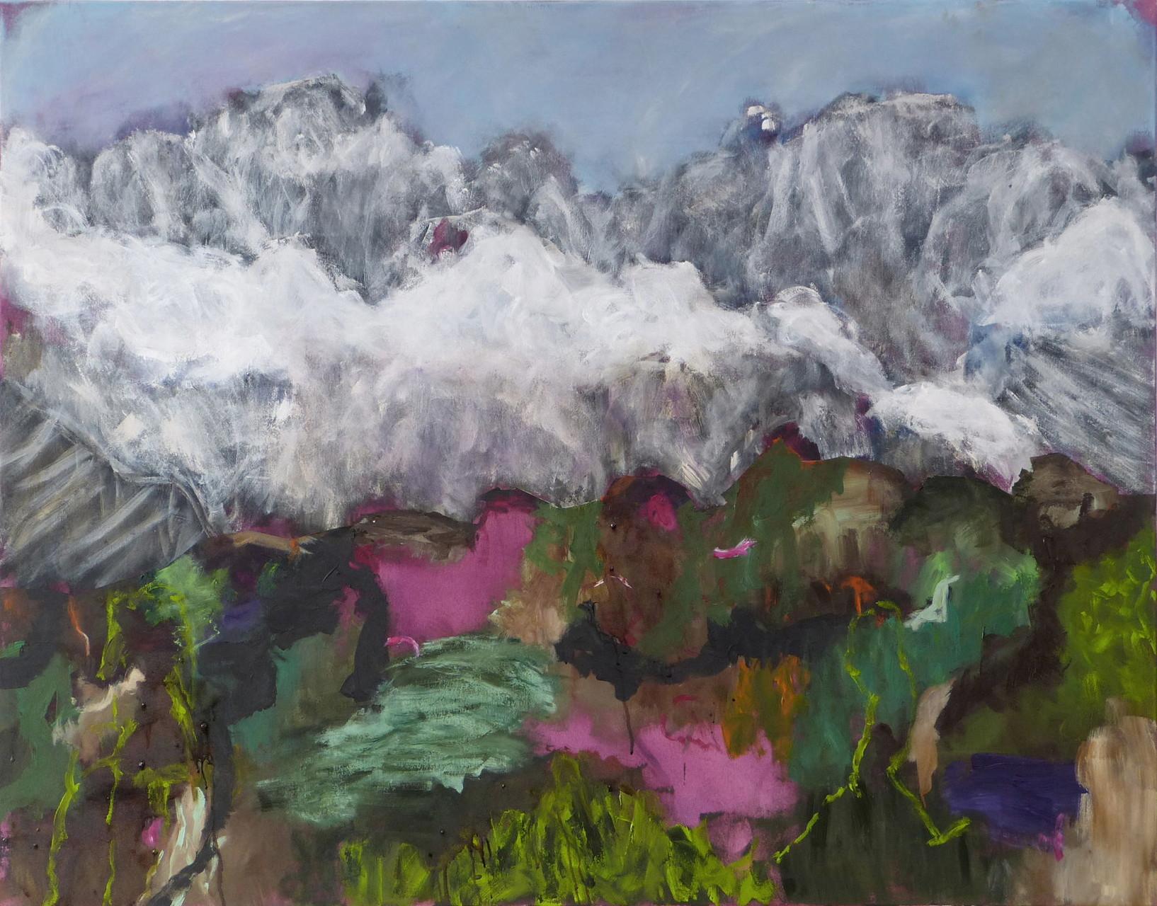 Mountainscape 1,  Acryl/Lwd., 110 x 140 cm, 2015