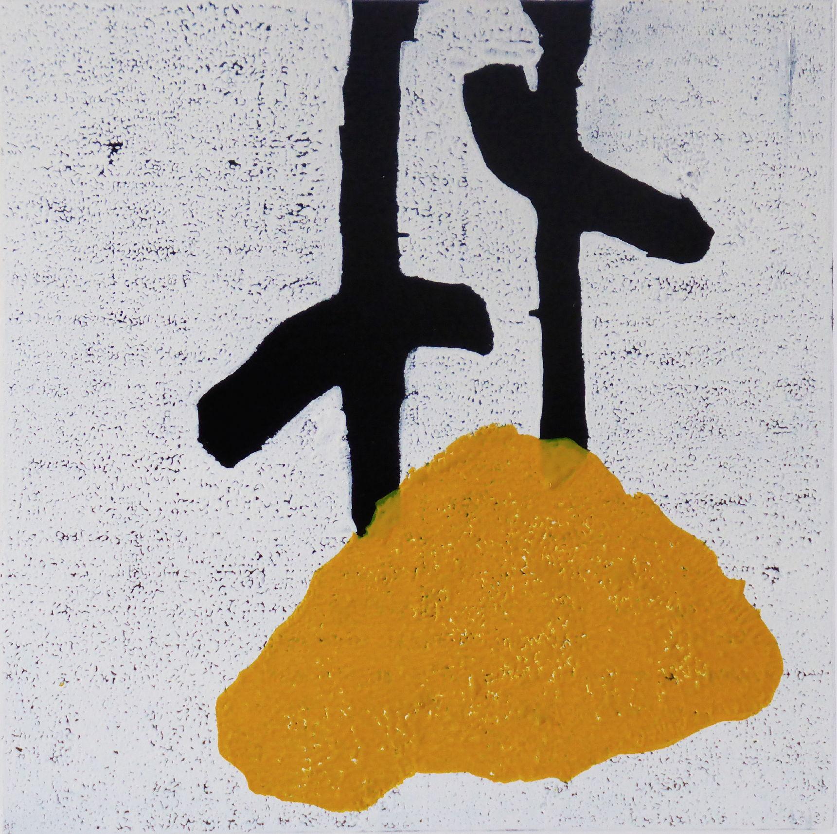 Tangentia 3, Farbholzschnitt, 35x35cm, 2014