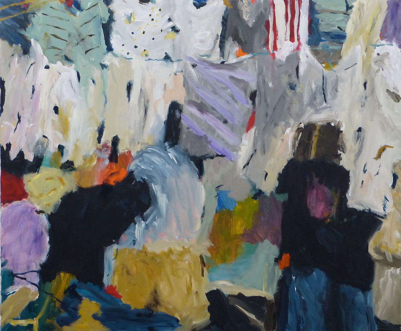 Dhobi Ghat IV, Acryl/Lwd., 100 x 120 cm, 2013