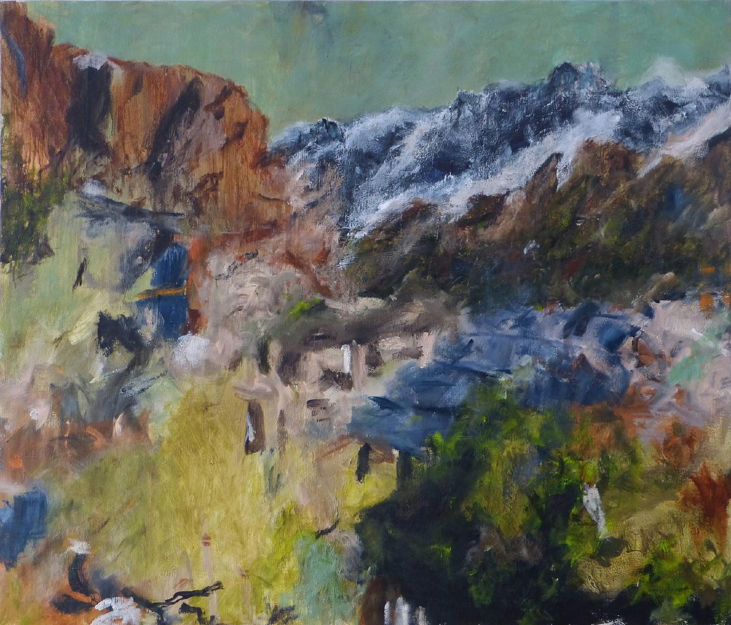 Mountainscape 4,  Acryl/Lwd., 120 x 140 cm, 2015