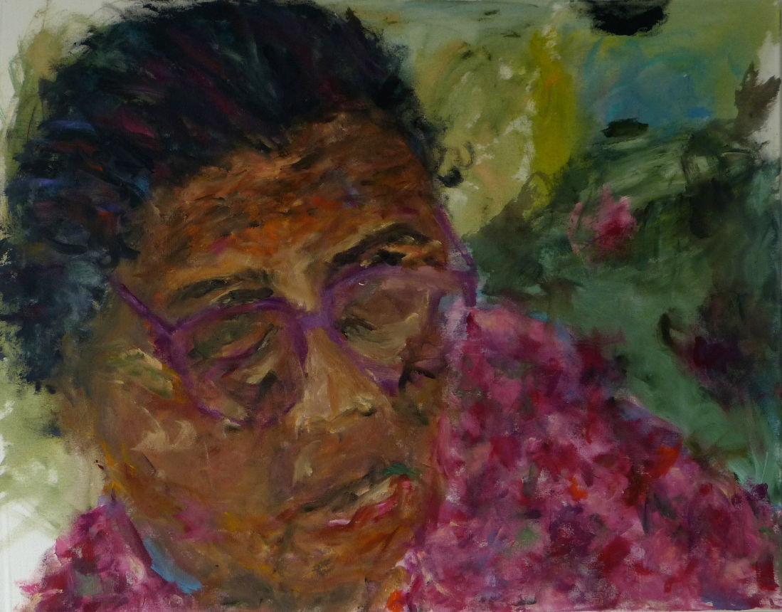 Nepali II, Acryl/Lwd. 70x90 cm, 2014