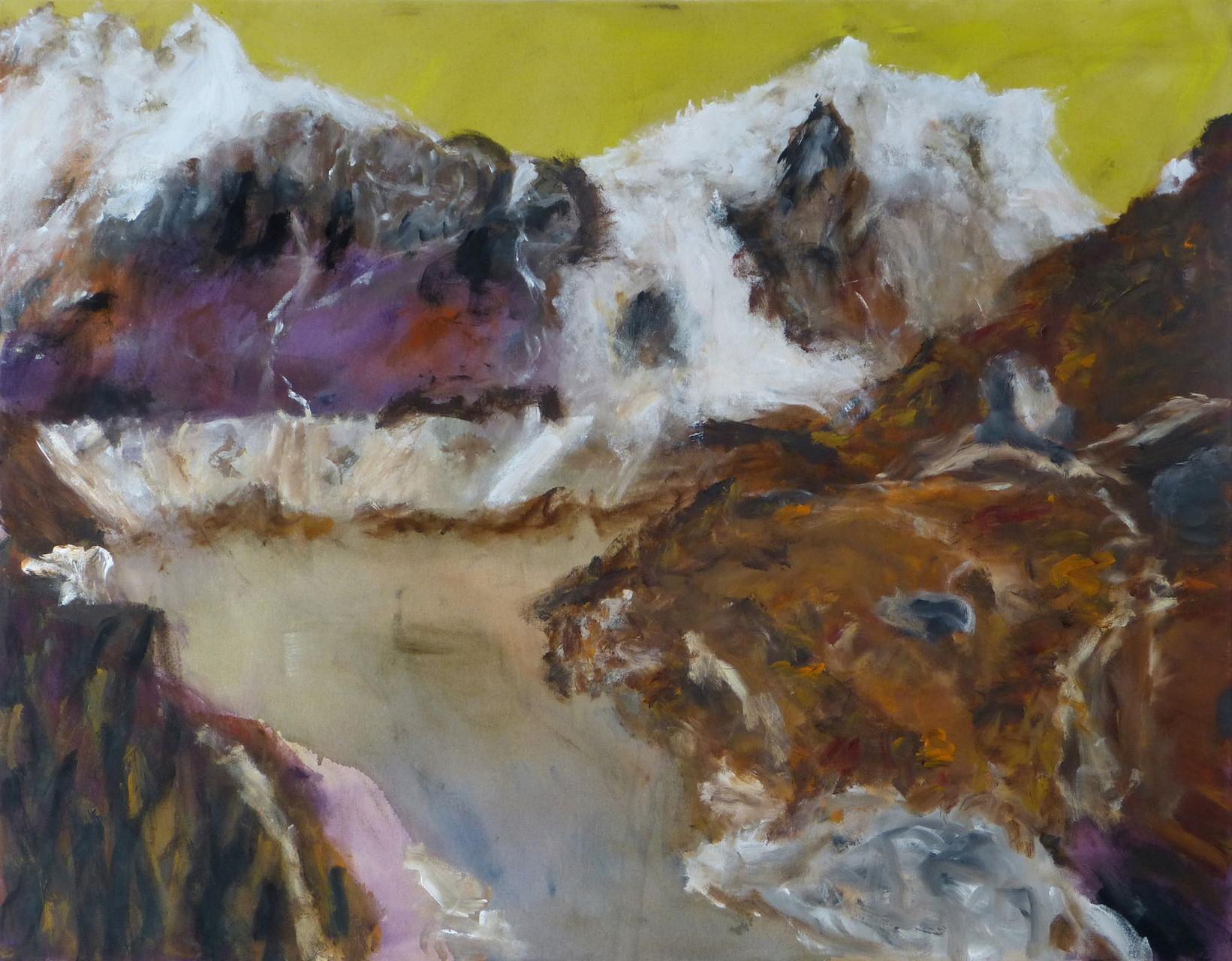 Langtang 1,  Acryl/Lwd., 110 x 140 cm, 2015