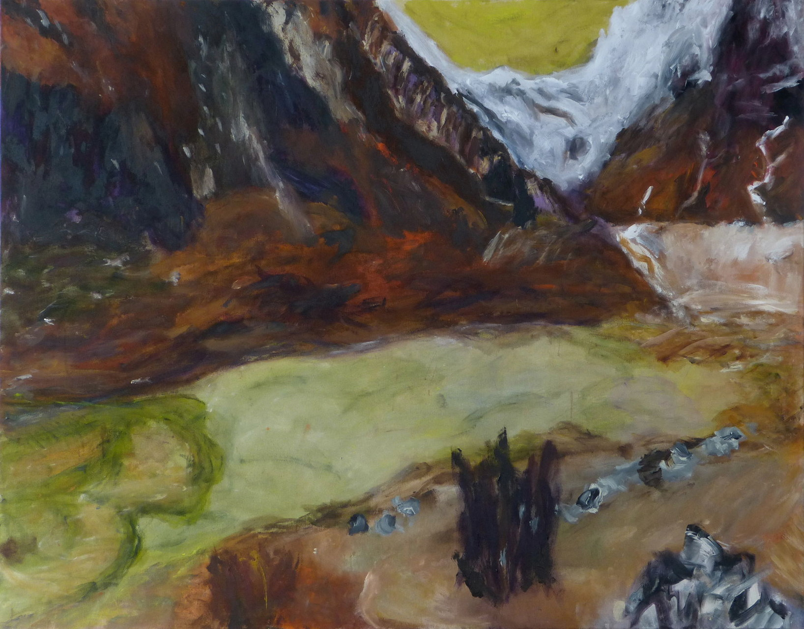 Langtang 2,  Acryl/Lwd., 110 x 140 cm, 2015