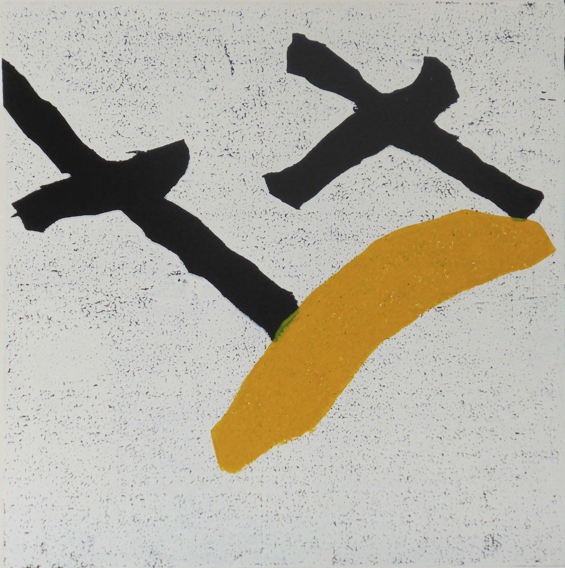Tangentia 1, Farbholzschnitt, 35x35cm, 2014