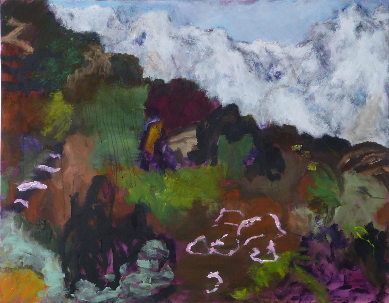 Mountainscape 2,  Acryl/Lwd., 110 x 140 cm, 2015