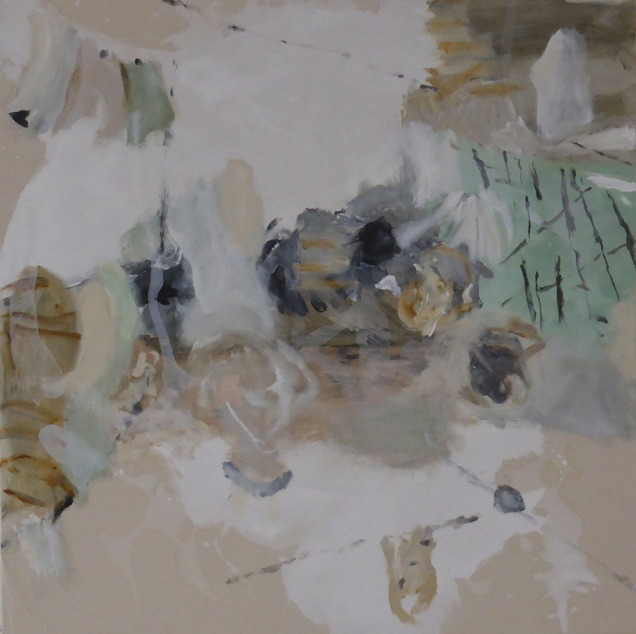Hinter den Dingen VI, Acryl/Lwd., 80 x 80 cm, 2013