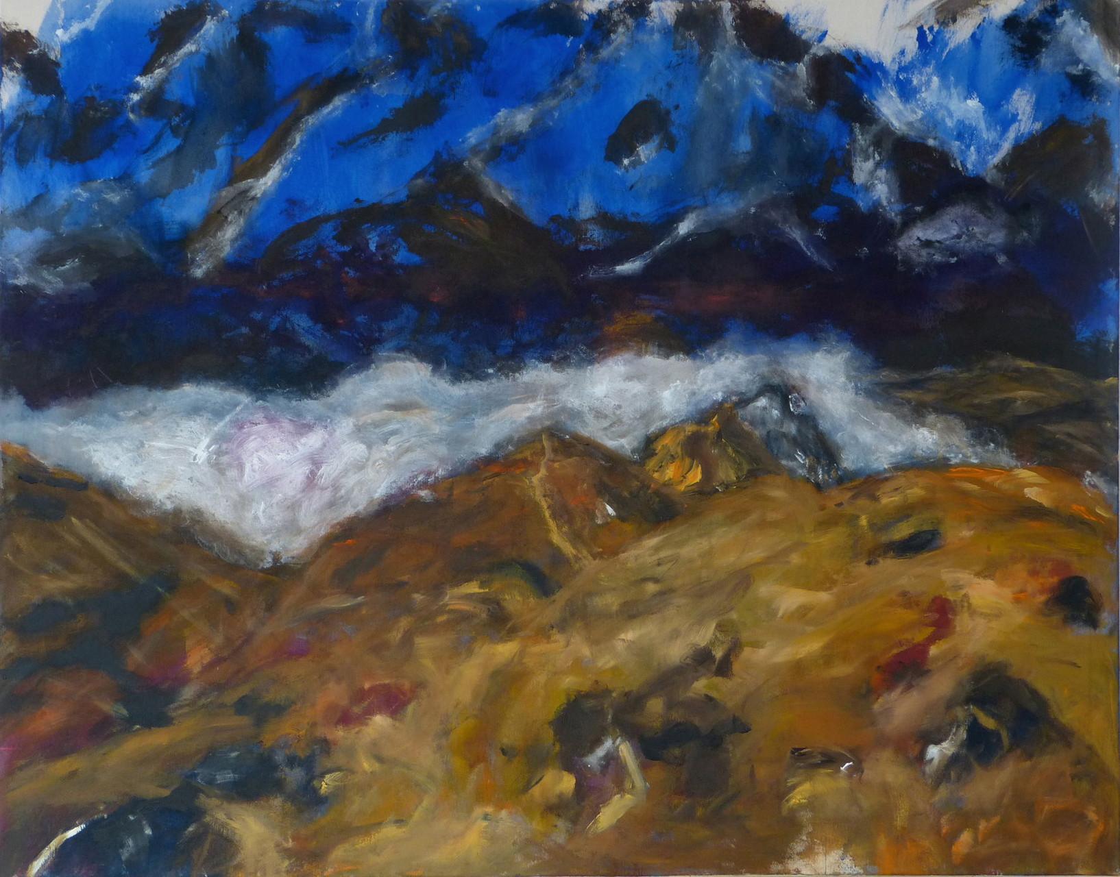 Mountainscape 3,  Acryl/Lwd., 110 x 140 cm, 2015
