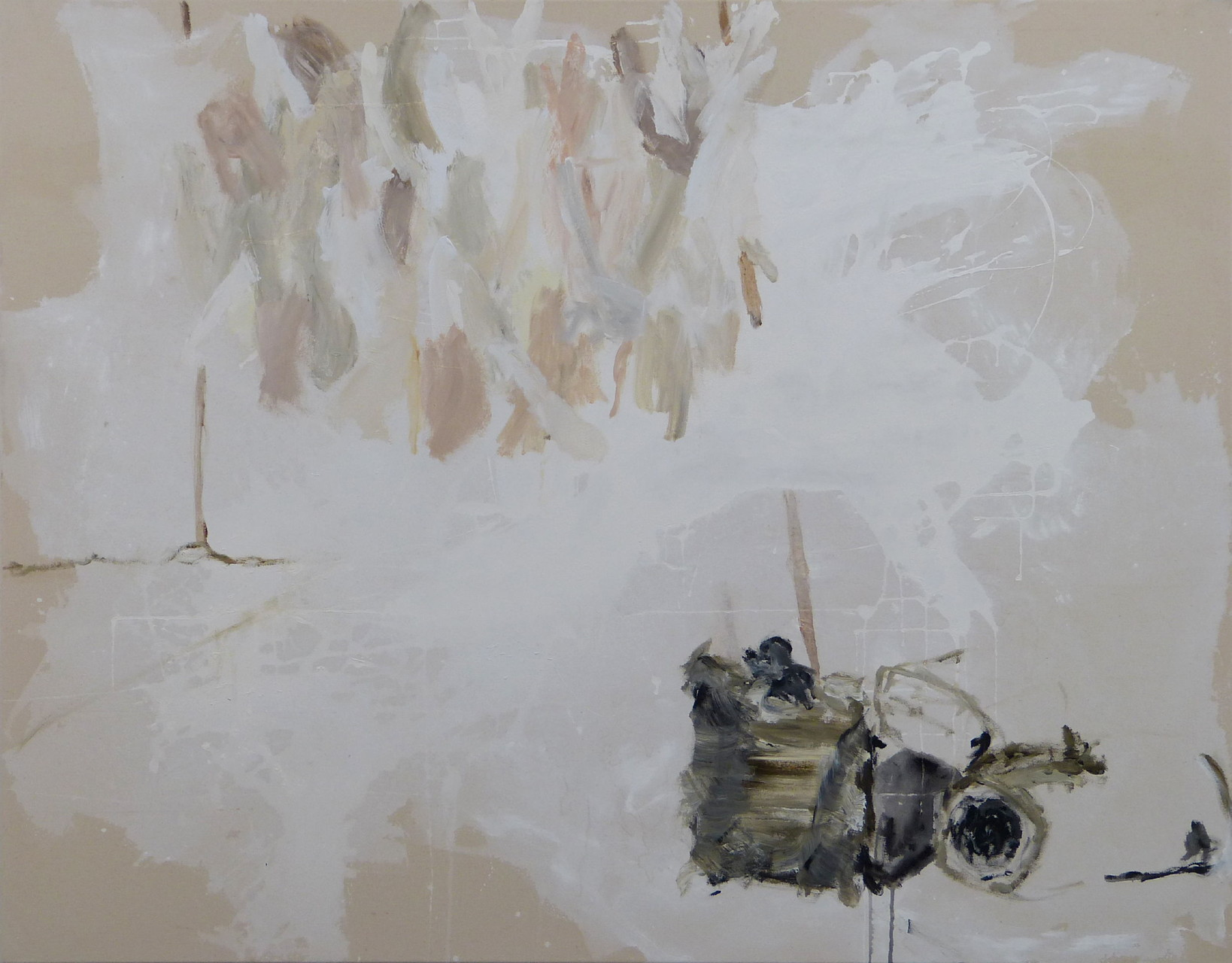 Hinter den Dingen III, Acryl/Lwd., 110 x 140 cm, 2013