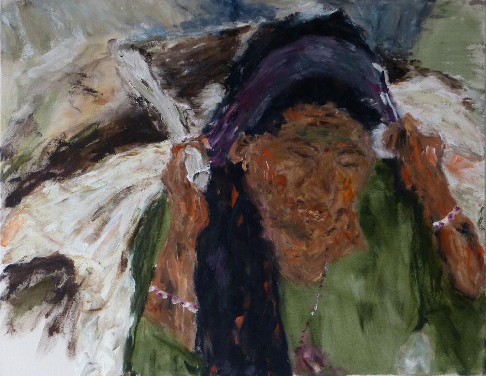 Nepali VI, Acryl/Lwd. 70x90 cm, 2014