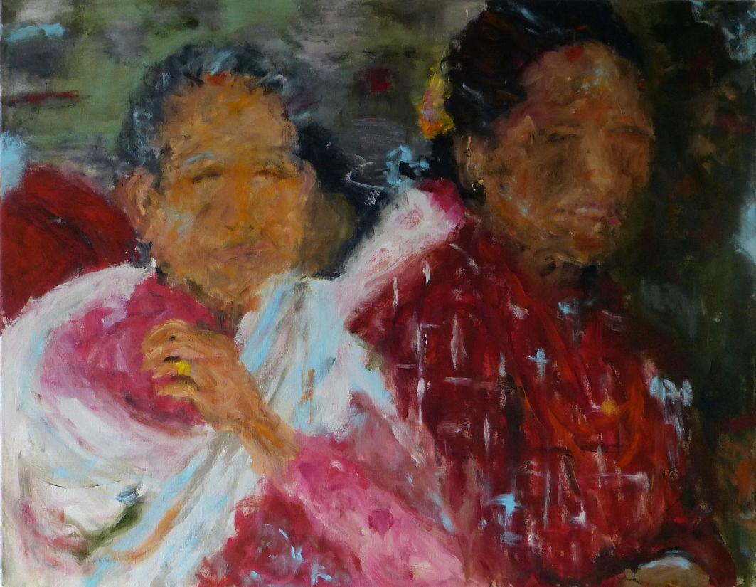 Nepali V, Acryl/Lwd. 70x90 cm, 2014