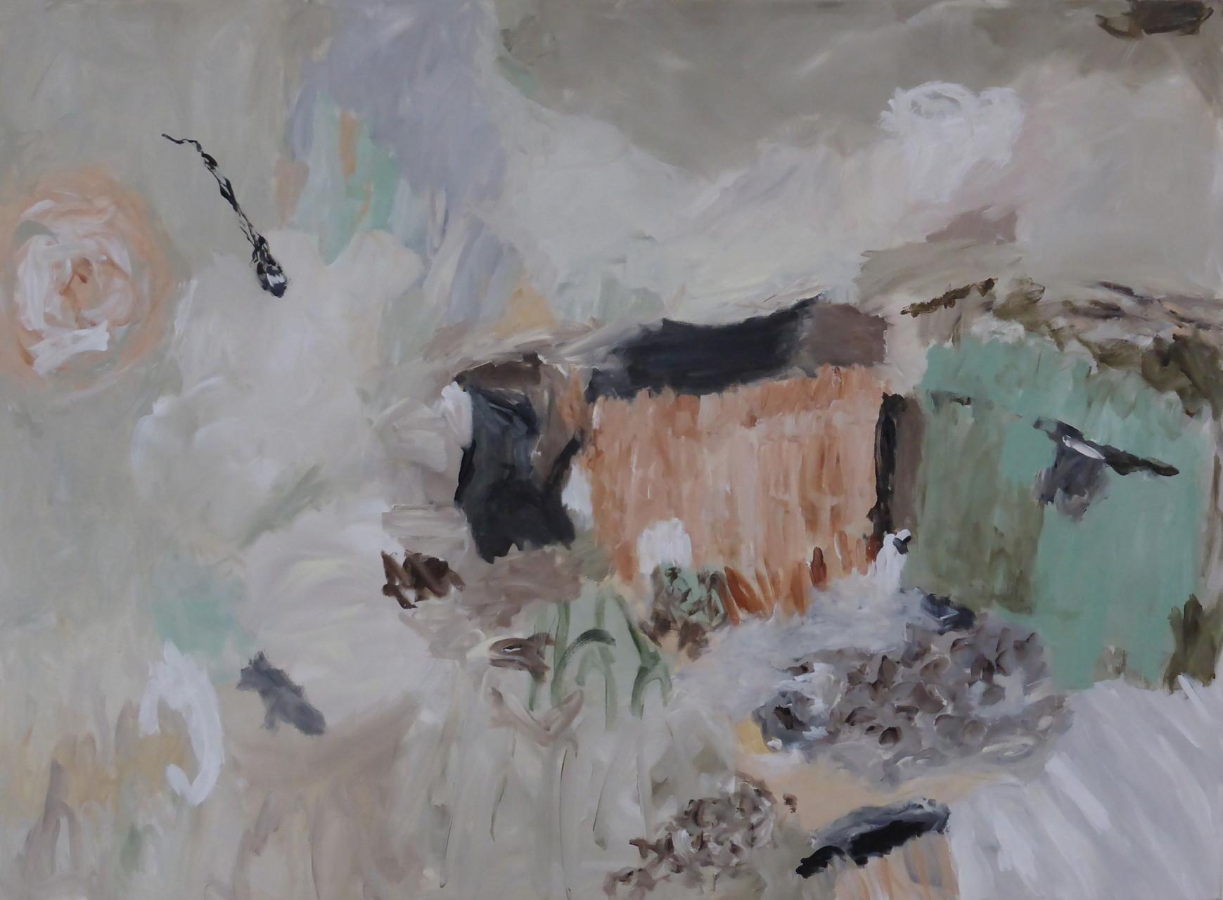 Hinter den Dingen , Acryl/Lwd., , 2013