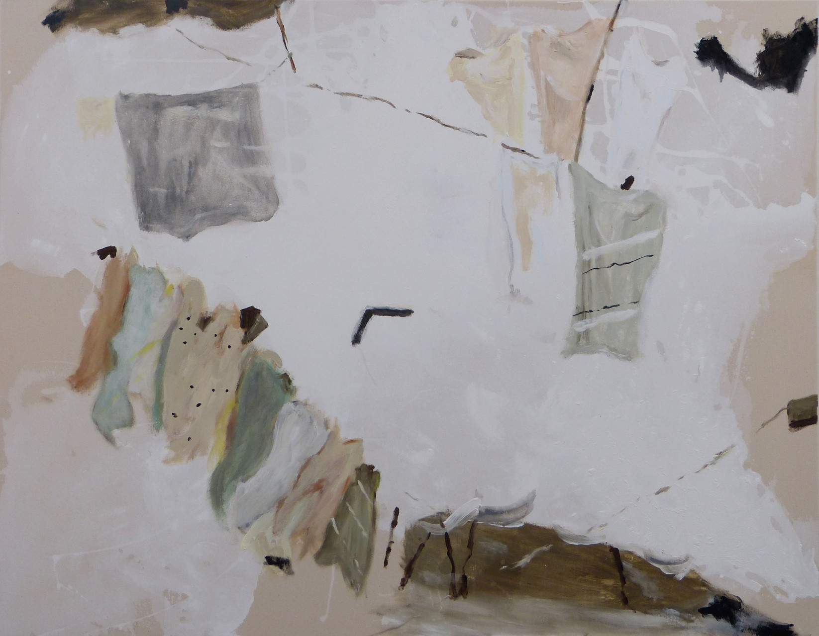 Hinter den Dingen I, Acryl/Lwd., 110 x 140 cm, 2013