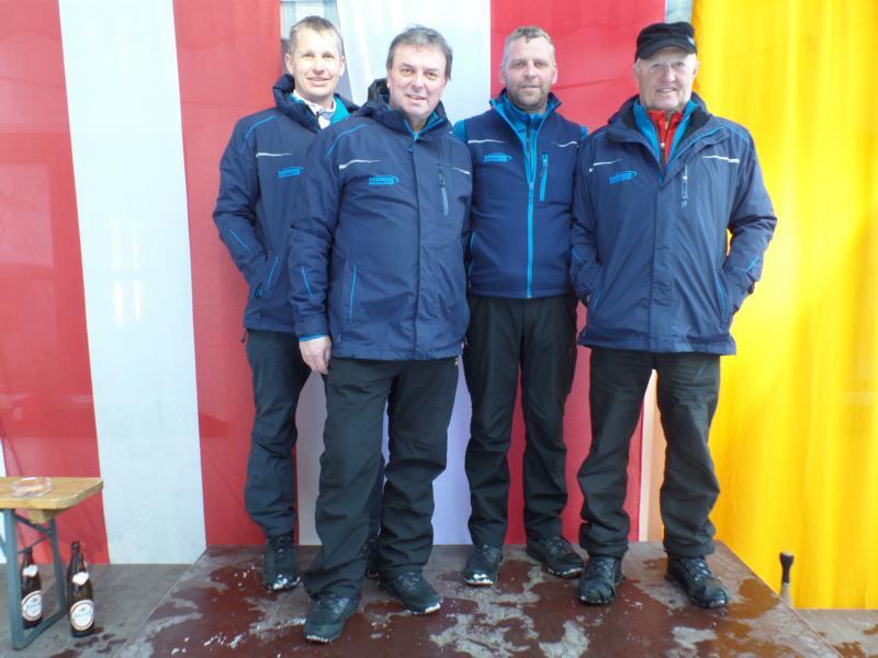 2. Platz: EC Brixen I: Hubert Auberger, Rupert Straßer, Josef Fuchs, Andi Kofler