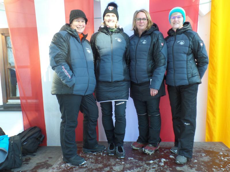 2. Platz: EC Rummlerhof: Martina Kogler, Betty Berger, Lisi Lackner, Angelika Pletzer