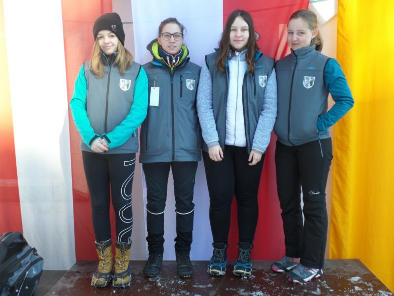 7. Platz: ESV Erpfendorf III: Ina Leitner, Angelina Gfäller, Marion Nothegger, Natalie Aberger