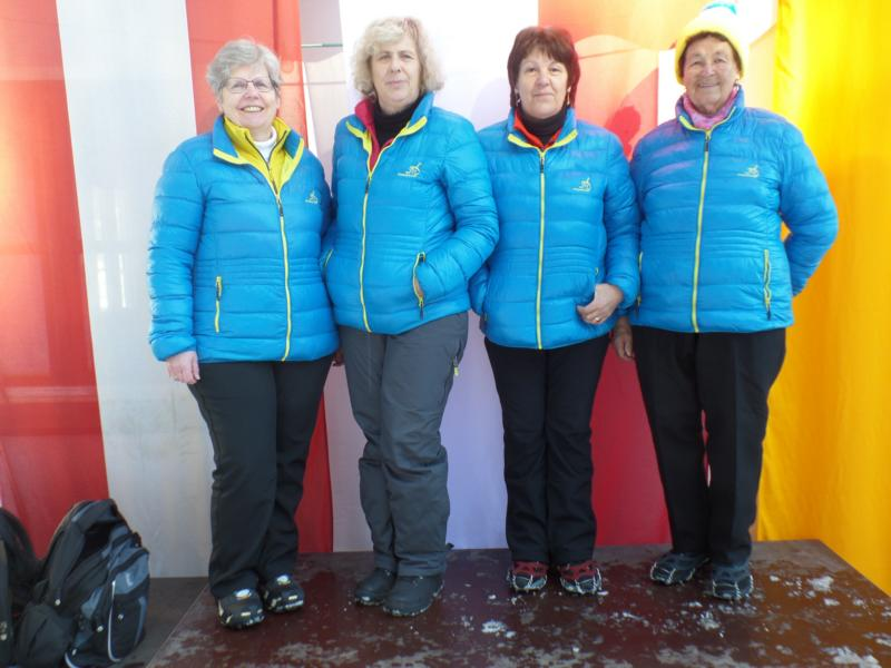 9. Platz: EV Fieberbrunne: Irmgard Gschnaller, Maria Tschiltsch, Maria Bucher, Enzei Huetz