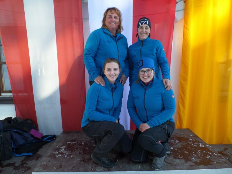 4. Platz: EC Brixen I: Michaela Straßer, Steffi Fraunberger, Katrin Straßer, Andrea Pöll