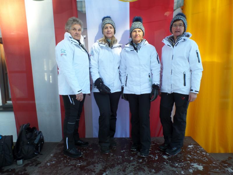 10. Platz: ESC Jochberg: Christl Krimbacher, Margret Landmann, Marianne Luxner, Waltraud Ritter