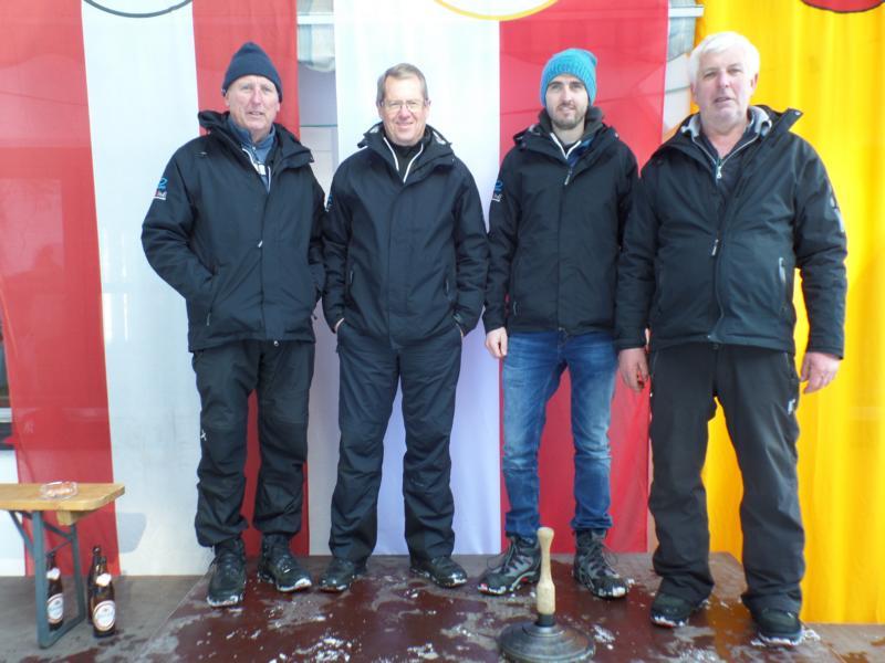 5. Platz: ESC Jochberg I: Felix Schipflinger, Walter Kreidl, Sepp Landmann, Peter Landmann