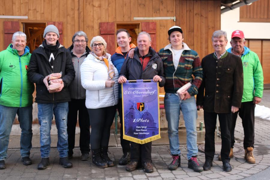 Das Siegerteam des ESV Erpfendorf II mit Barbara Neumayr-Hauser