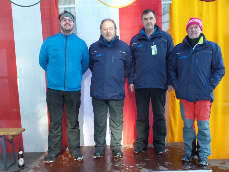 10. Platz: EC Brixen II: Karli Exenberger, Christoph Straßer, Kurt Zwins, Charly Dummer