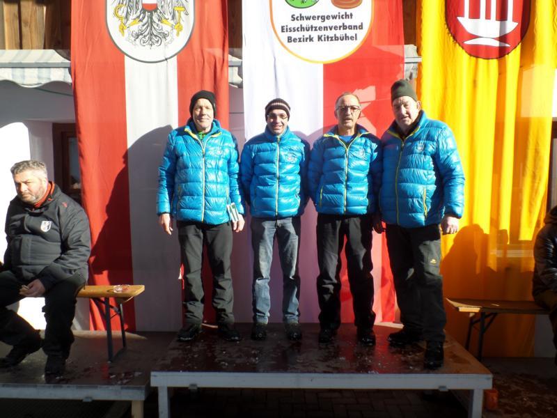 8. Platz: EV Fieberbrunn II: Markus Holzmann, Christian Erhart, Michael Hochfilzer, Thomas Seisl